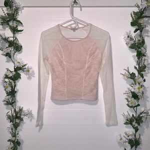 GUESS Lace Mix Top